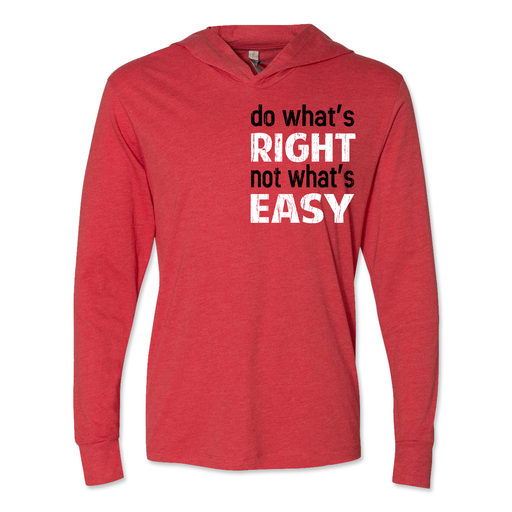 Do What's Right - Unisex Hooded Pullover Tee Red