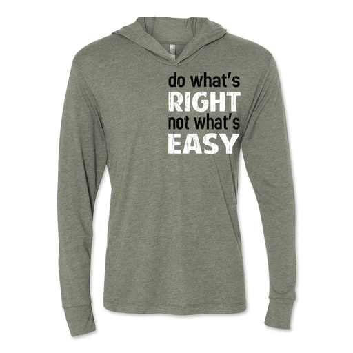 Do What's Right - Unisex Hooded Pullover Tee Venetian Grey