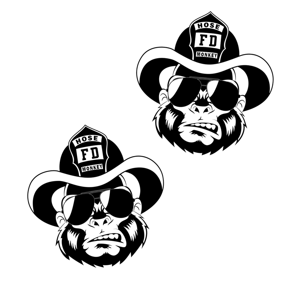 "Hose Monkey 2"" Sticker - 2 pack"