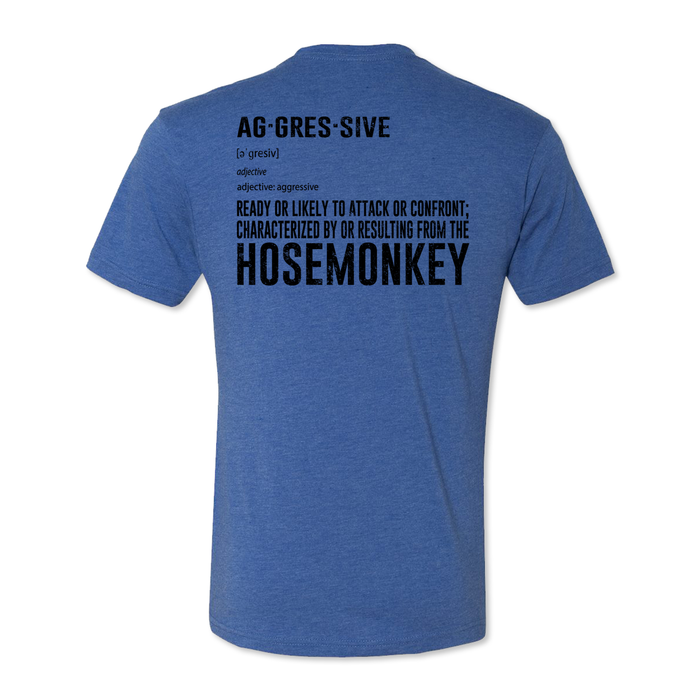 Hose Monkey = Aggressive - Men's Tri Blend Tee