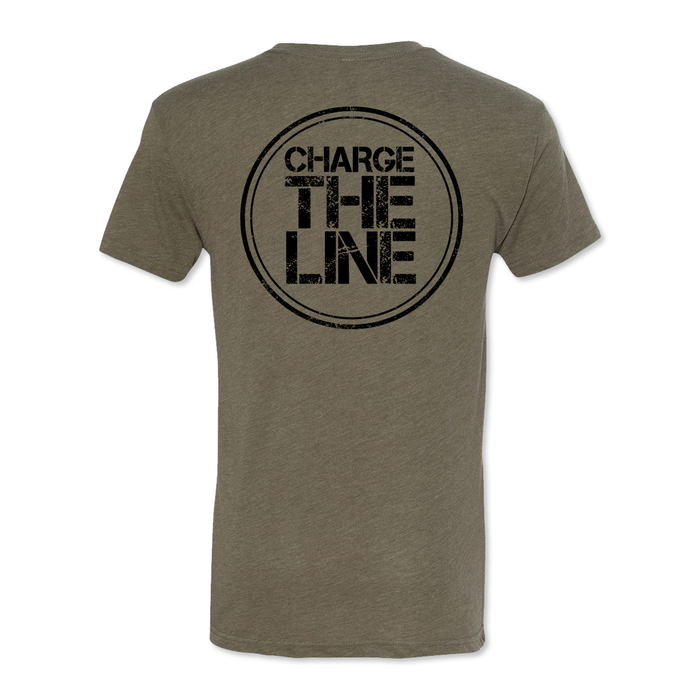 Charge The Line - Men's Tri Blend Tee