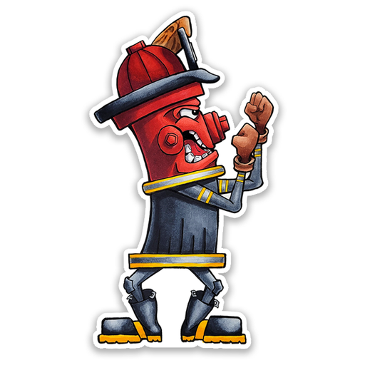 "Fire ""Fighter"" Hydrant Sticker"