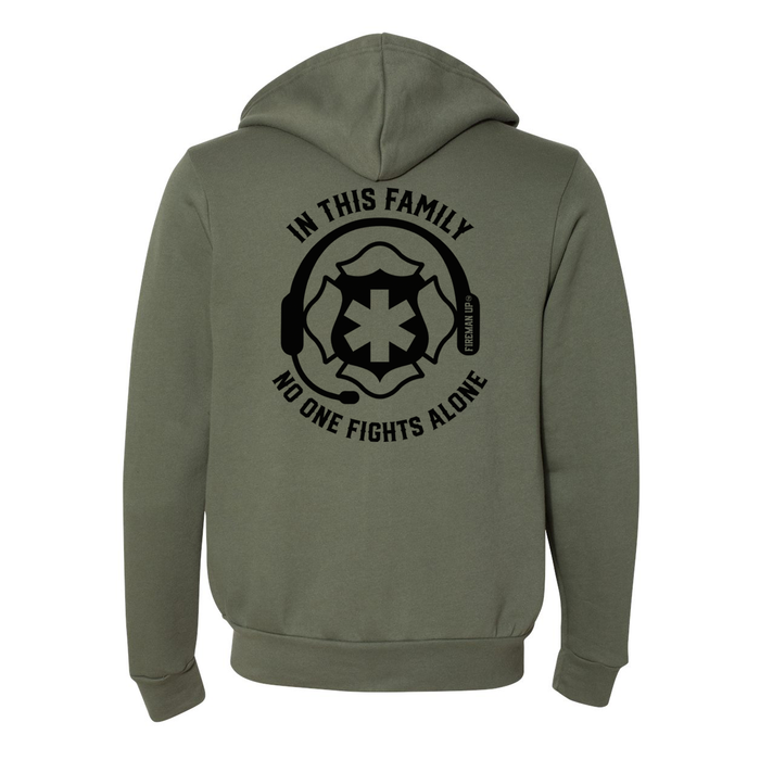 No One Fights Alone - Unisex Full-Zip Hoodie