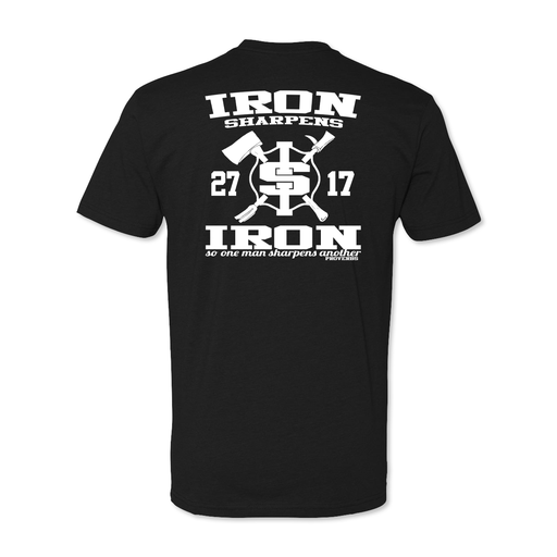 Iron Sharpens Iron RETRO - Poly Cotton Blend Tee - Black