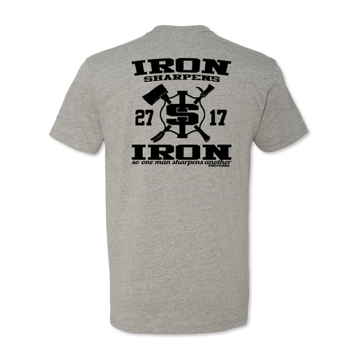 Iron Sharpens Iron RETRO - Poly Cotton Blend Tee - Grey