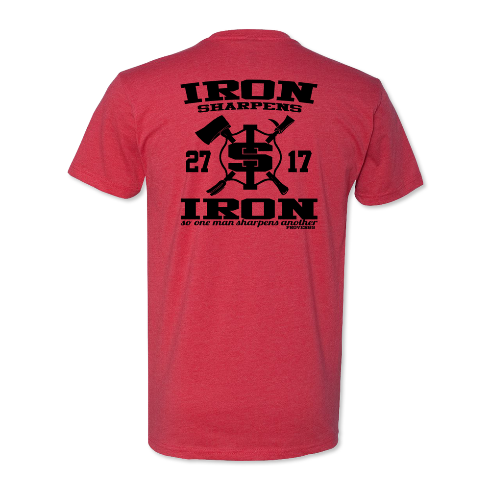 Iron Sharpens Iron RETRO - Poly Cotton Blend Tee - Red
