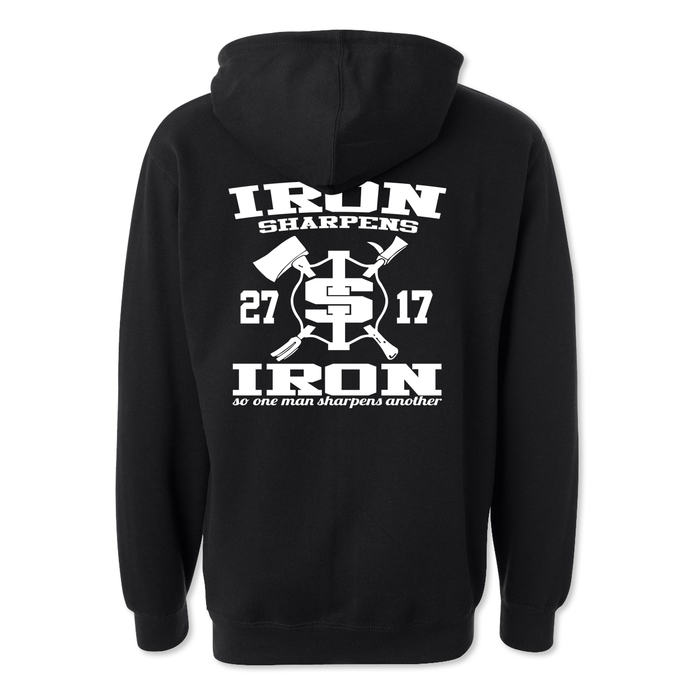 Iron Sharpens Iron RETRO - Midweight Hoodie - Black