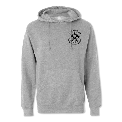 Iron Sharpens Iron RETRO - Midweight Hoodie - Grey