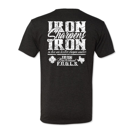 Iron Brotherhood FOOLS - Iron Sharpens Iron - Men's Tri Blend Tee
