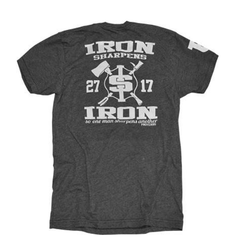 Iron Sharpens Iron - Heather Black Crew