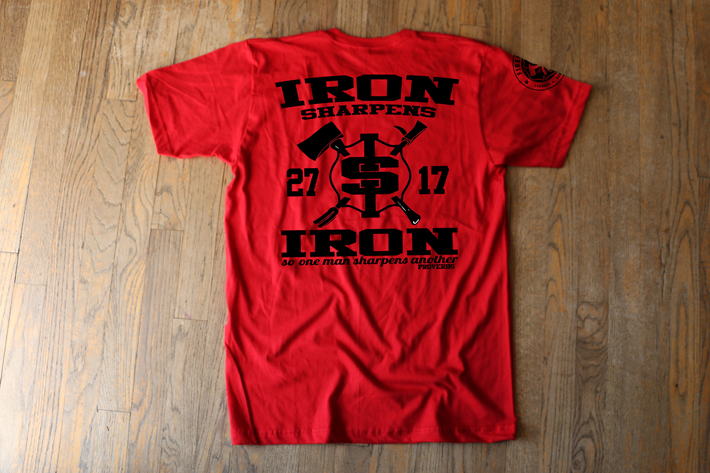 Iron Sharpens Iron - Red