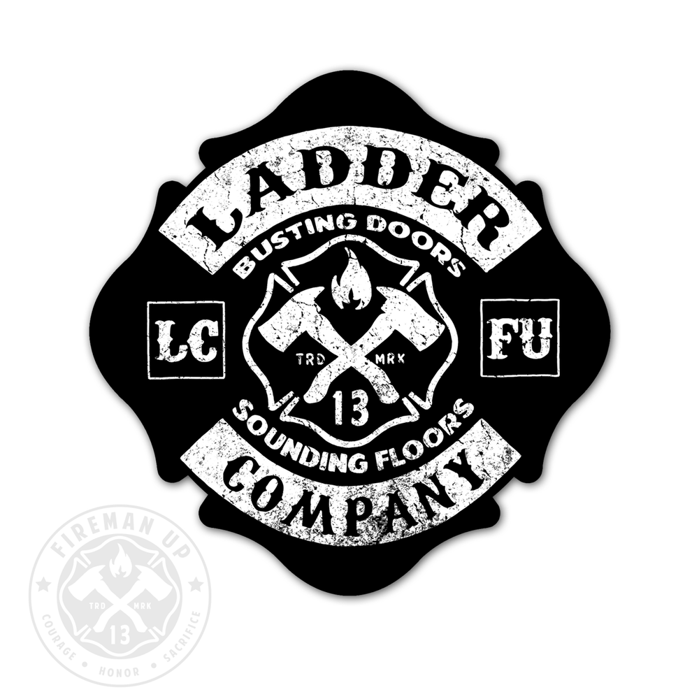 "Ladder Company Maltese - 4"" Sticker"