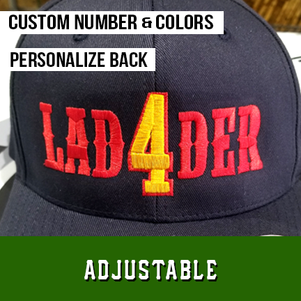 Ladder Number Outlined Custom Hat - Adjustable