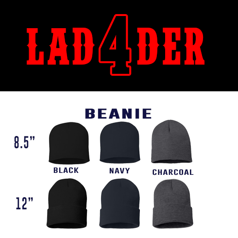 Ladder Number Outlined Custom Beanie