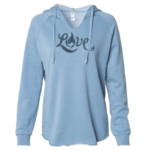 Love - Lightweight Hoodie - Misty Blue