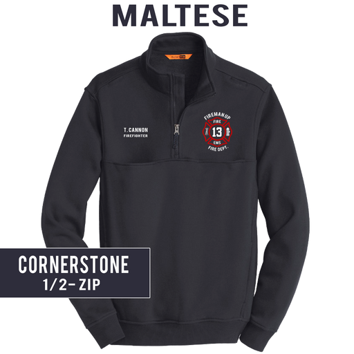 Custom Maltese - CornerStone 1/2 Zip Job Shirt