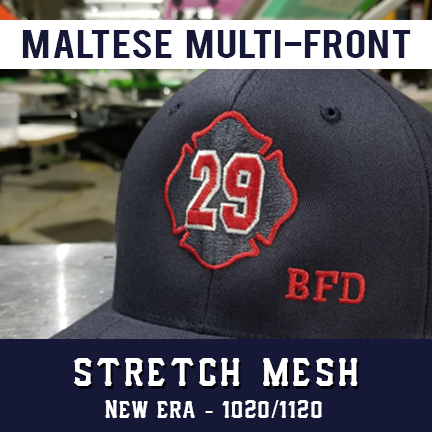 Maltese Multi Front Custom Hat - New Era Stretch