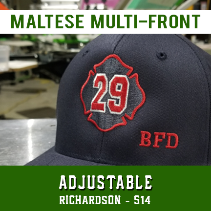 Maltese Multi Front Custom Hat - Adjustable
