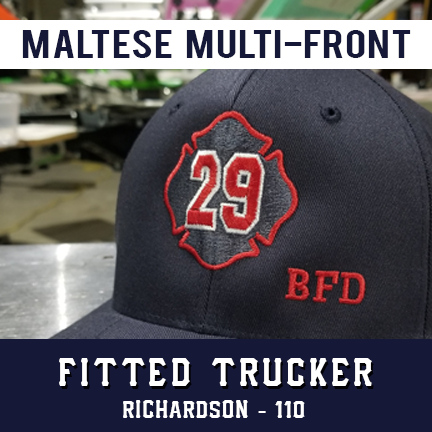 Maltese Multi Front Custom Hat - Fitted Trucker