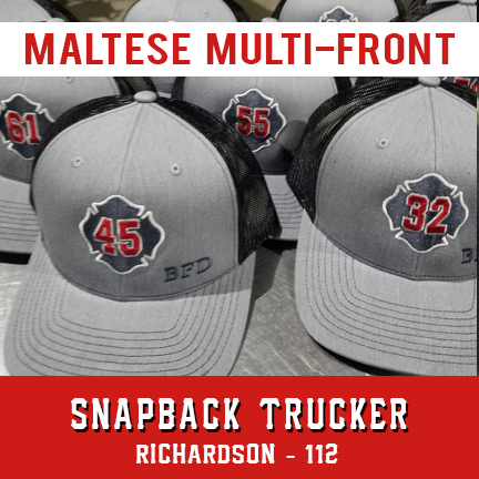 Maltese Multi Front Custom Hat - Snapback Trucker