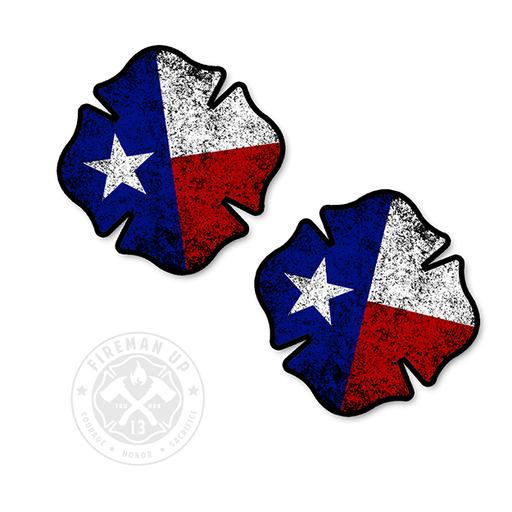 "Texas Flag Maltese Tattered - 2"" Sticker Pack"
