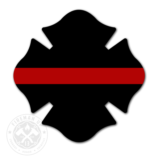 "Maltese Thin Red Line - 4"" Sticker"