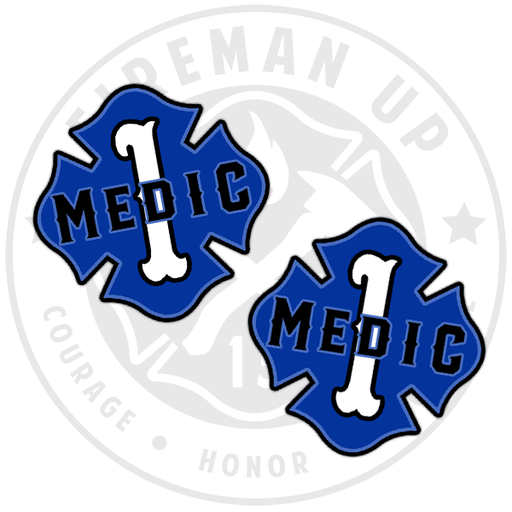 "Medic 1 Outlined Number Maltese - 2"" Sticker Pack"