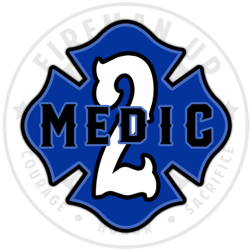 "Medic 2 Outlined Number Maltese - 4"" Sticker"