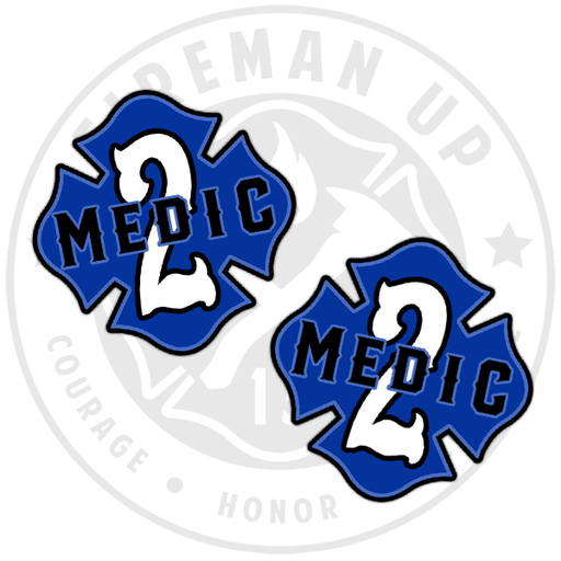 "Medic 2 Outlined Number Maltese - 2"" Sticker Pack"