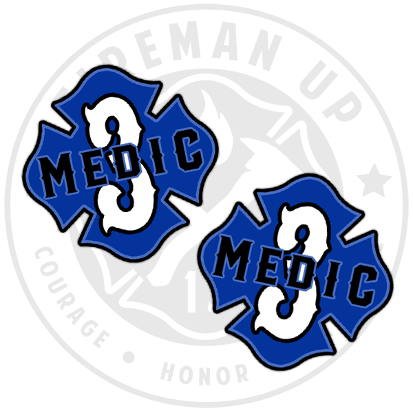 Medic 3 Sticker Decal EMS Maltese Fireman Up