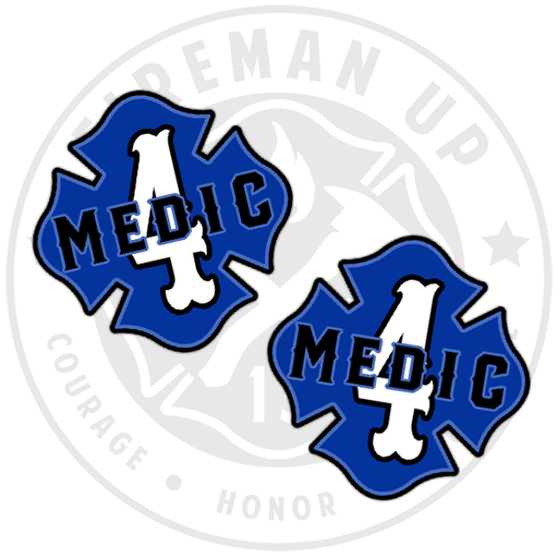 "Medic 4 Outlined Number Maltese - 2"" Sticker Pack"