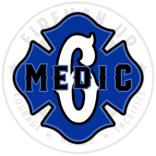 "Medic 6 Outlined Number Maltese - 4"" Sticker"