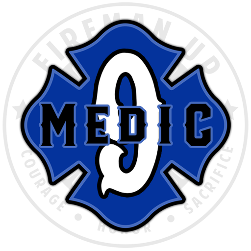 "Medic 9 Outlined Number Maltese - 4"" Sticker"