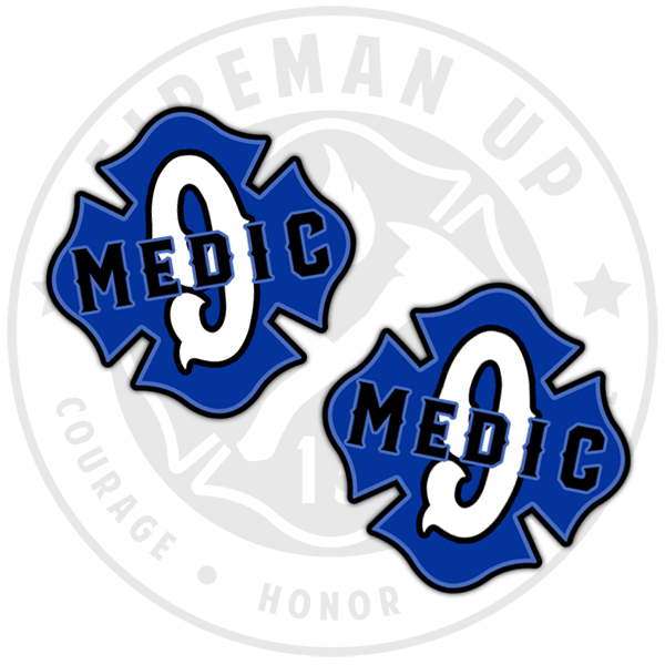 "Medic 9 Outlined Number Maltese - 2"" Sticker Pack"
