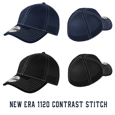 Fire 3 Line Arched Custom Hat - New Era Stretch