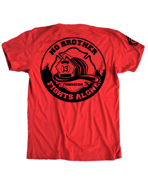 No Brother Fights Alone Red Logo