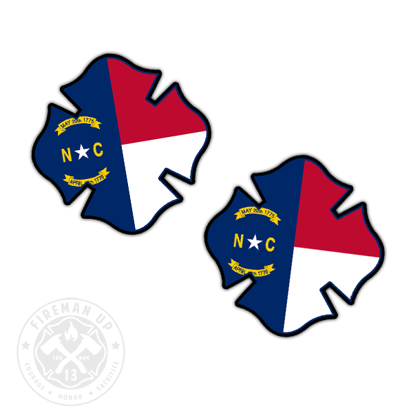 "North Carolina Flag Fire Maltese - 2"" Sticker Pack"