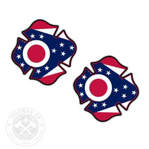 "Ohio Flag Fire Maltese - 2"" Sticker Pack"