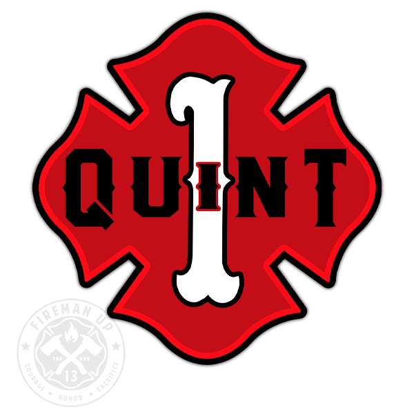 "Quint 1 Outline Number Maltese - 4"" Sticker"
