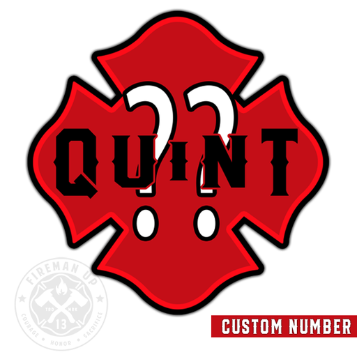 Quint CUSTOM Outline Number Maltese Sticker Pack