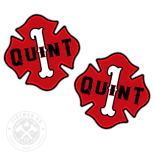 "Quint 1 Outline Number Maltese - 2"" Sticker Pack"