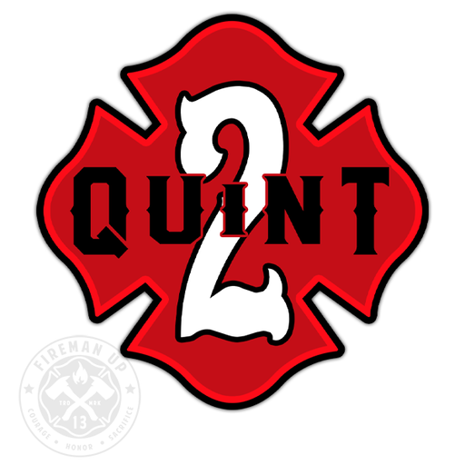 "Quint 2 Outline Number Maltese - 4"" Sticker"
