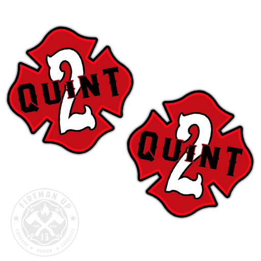"Quint 2 Outline Number Maltese - 2"" Sticker Pack"