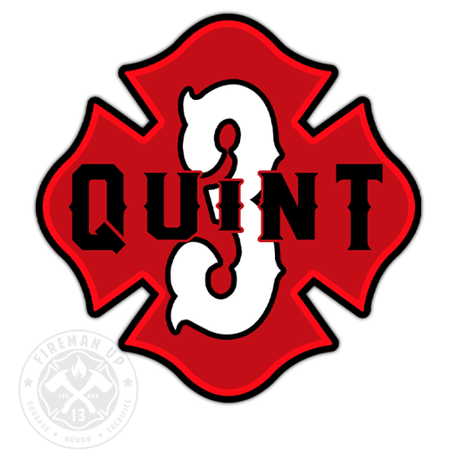 "Quint 3 Outline Number Maltese - 4"" Sticker"