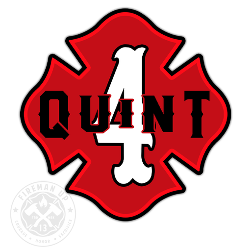 "Quint 4 Outline Number Maltese - 4"" Sticker"