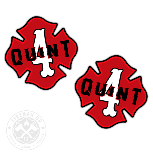 "Quint 4 Outline Number Maltese - 2"" Sticker Pack"