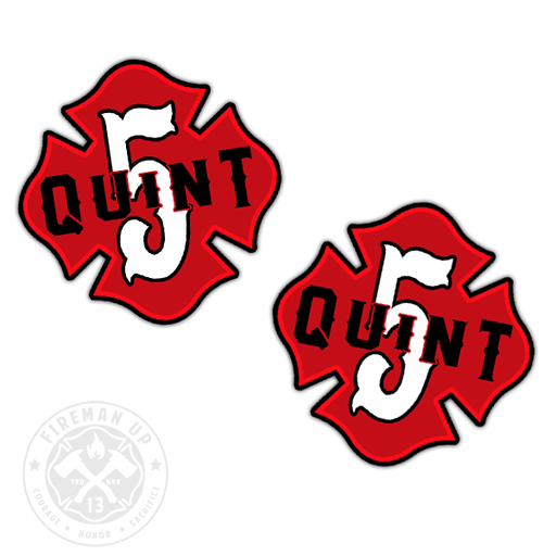 "Quint 5 Outline Number Maltese - 2"" Sticker Pack"