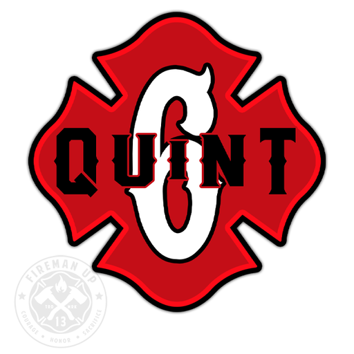 "Quint 6 Outline Number Maltese - 4"" Sticker"
