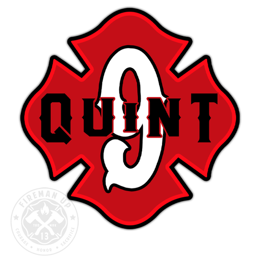 "Quint 9 Outline Number Maltese - 4"" Sticker"