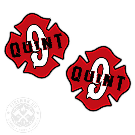 "Quint 9 Outline Number Maltese - 2"" Sticker Pack"